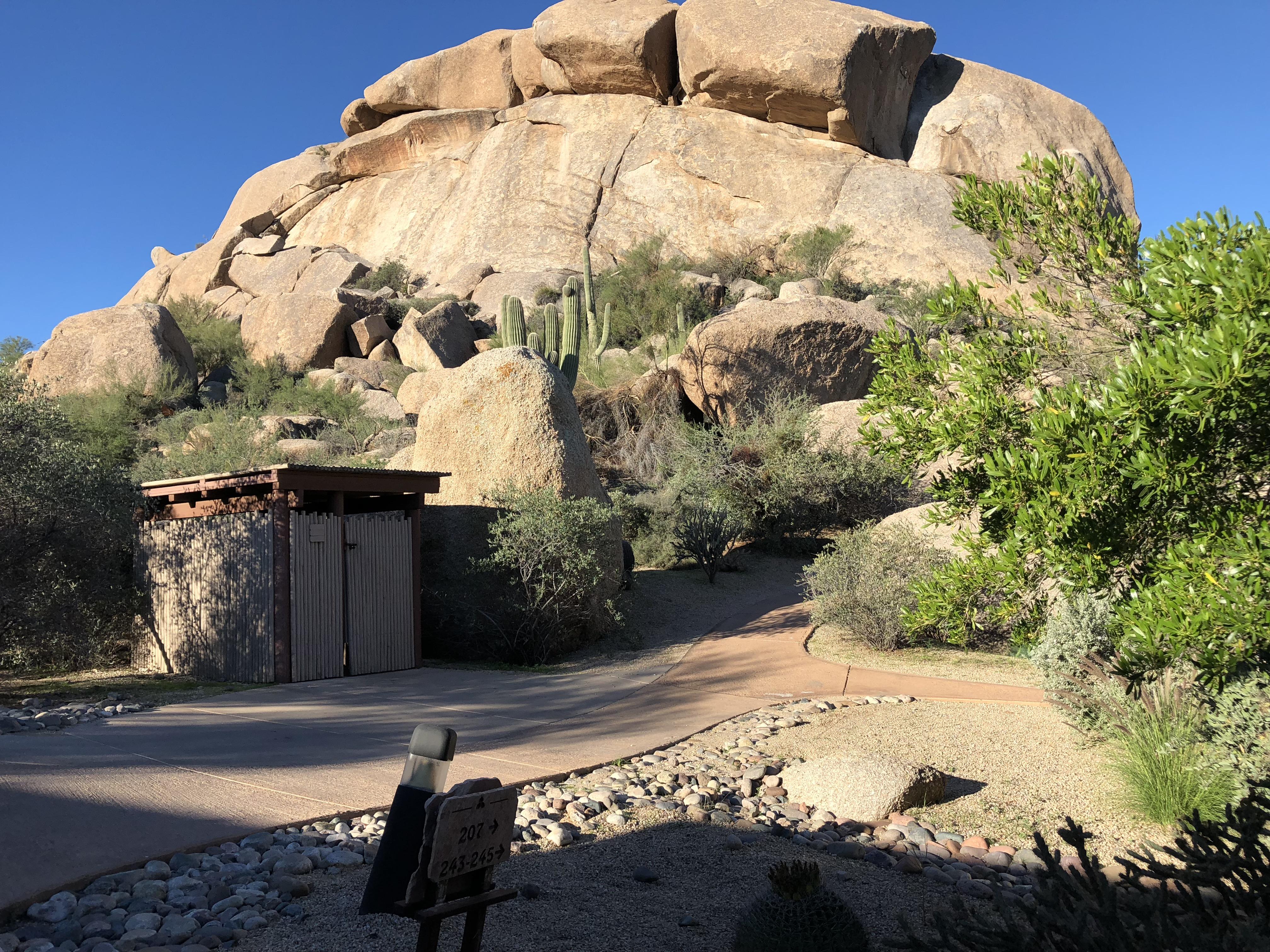 Massive Boulder pic at Boulders Resort