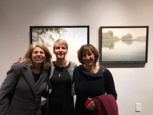 Me with Christine Gedye and Nan Wiener at Chris's art exhibit