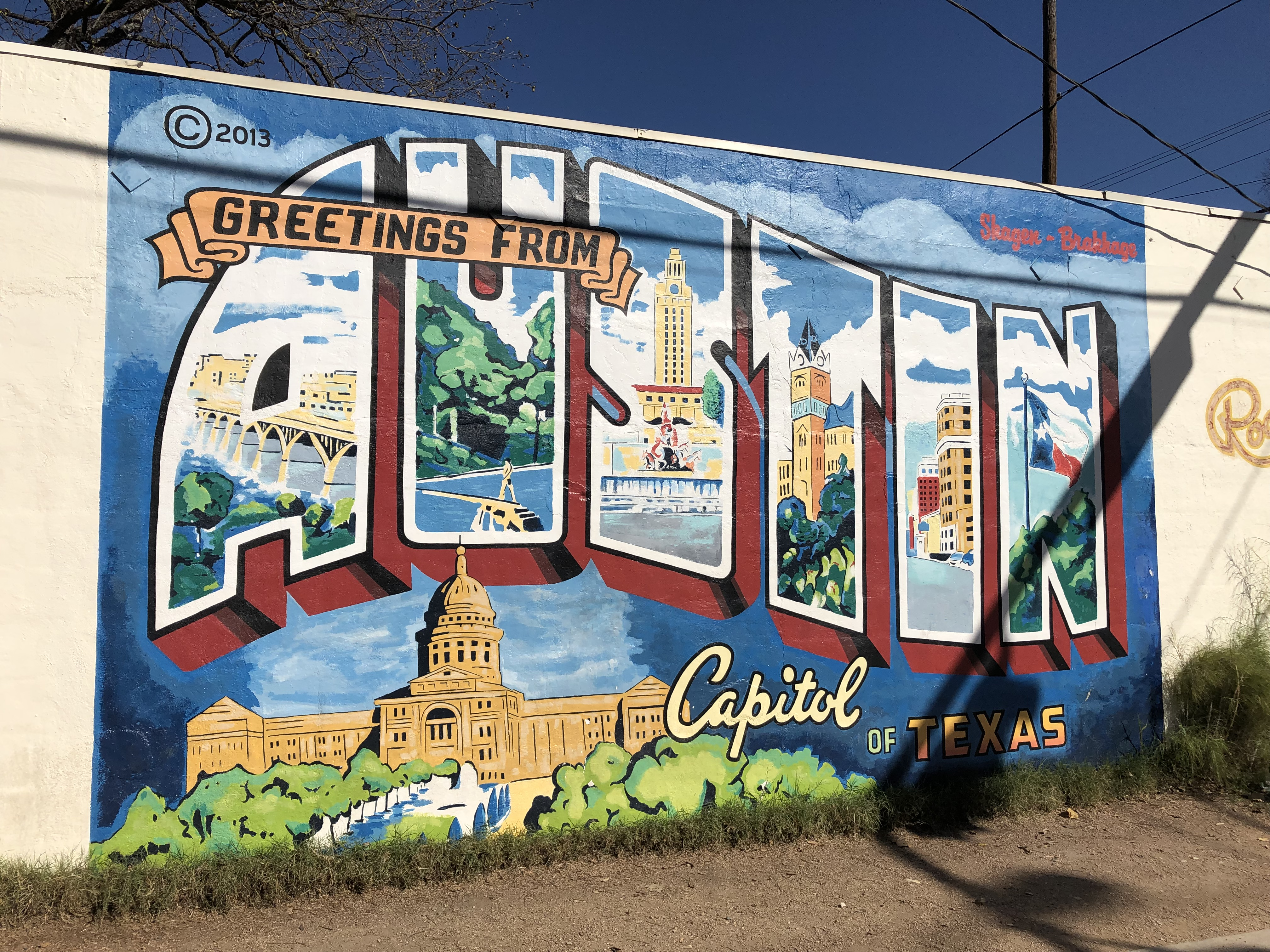 Greetings from Austin mural, S. 1st St.