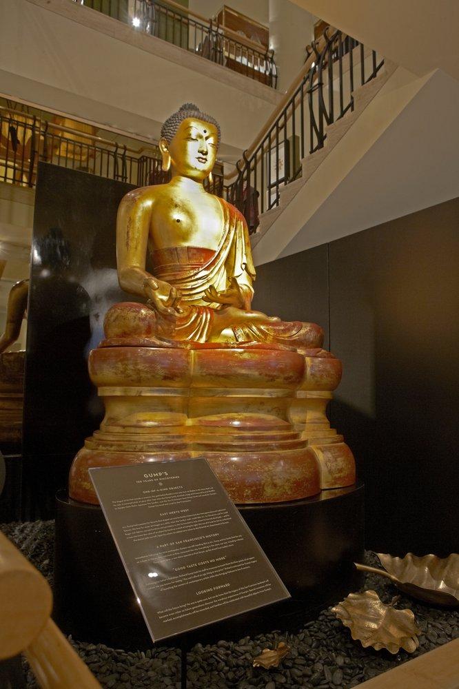 Golden Buddha in Gumps San Francisco