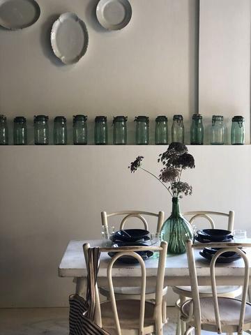 Green mason jars
