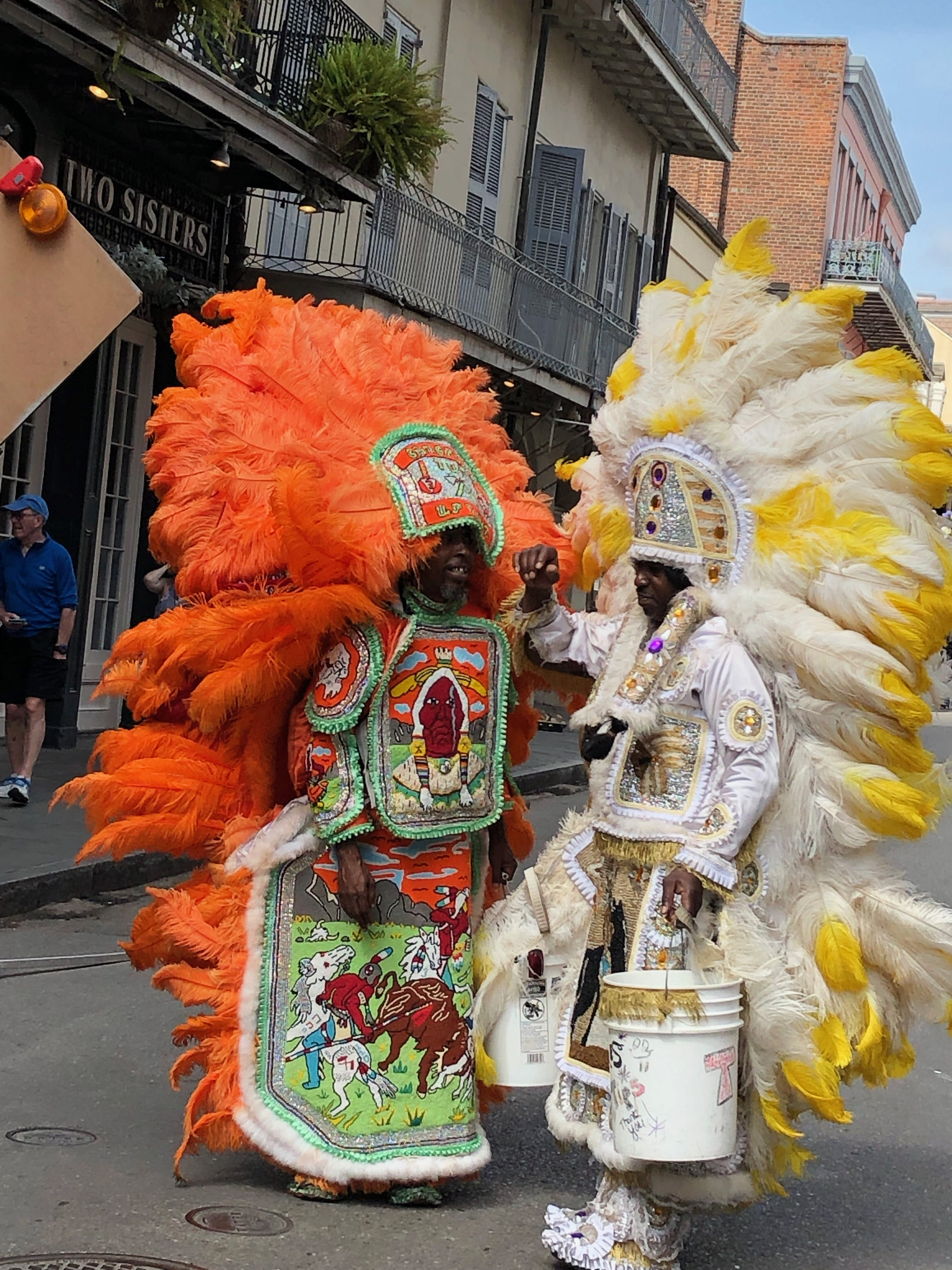 Mardi Gras Indians, ceremonial garb.