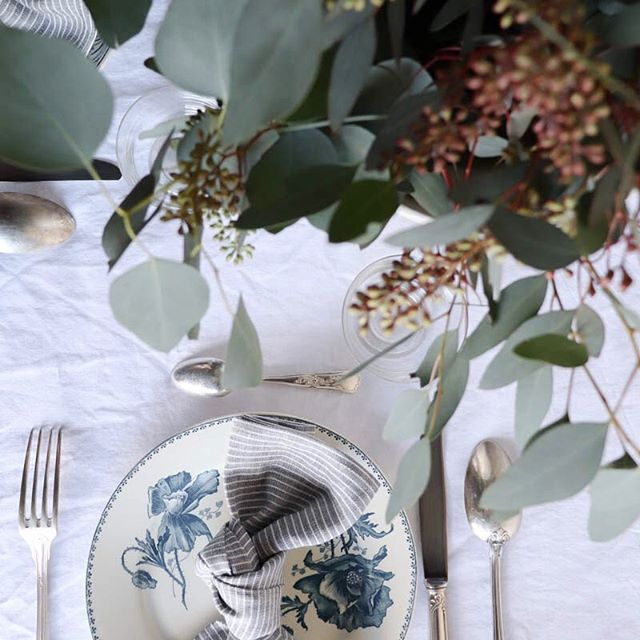 A springtime table setting