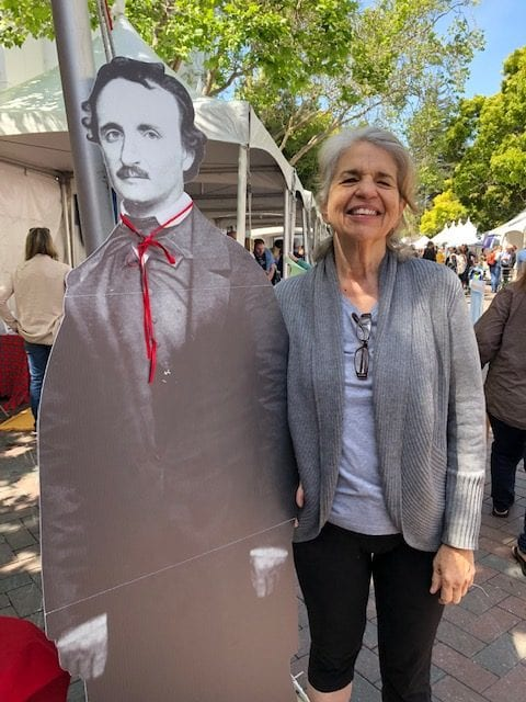 Bonnie Monte at MWA booth Bay Area Book Festival