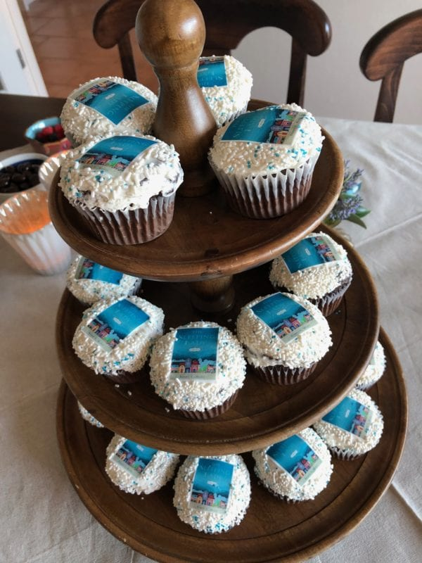 cupcakes with my book cover
