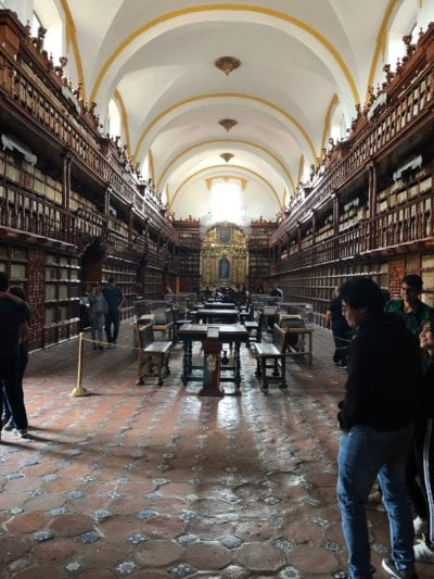 Palafoxiana Library in Puebla, Mexico