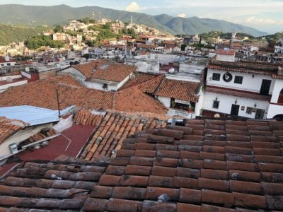 Red tile roofs in Taxco